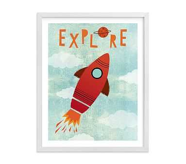 Explore Your World Art by Minted(R) 30x40, White - Pottery Barn Kids