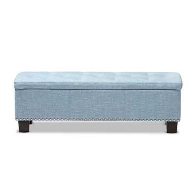 Hannah Light Blue Bench - Home Depot