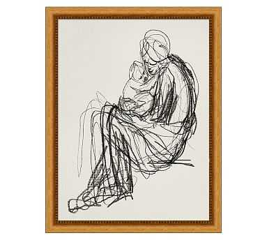 "Figures in Embrace Framed Print, 14 x 18"" - Pottery Barn"
