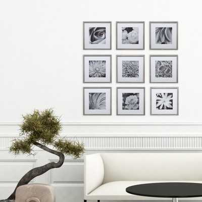 Gallery 8 in. x 8 in. Graywash Gallery Picture Frame (Set of 9) - Home Depot