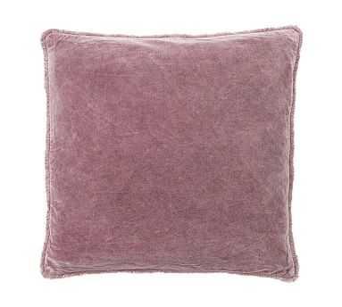 Fringe Velvet Pillow, 22 Inches, Deep Blush - Pottery Barn