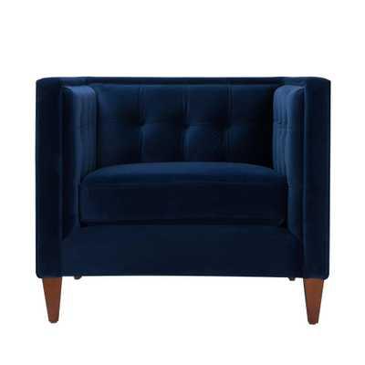 Jack Tuxedo Navy Blue Arm Chair - Home Depot