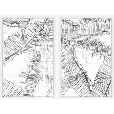 'Estero Diptych' Framed Painting Print - Wayfair