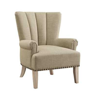 Dani Beige Accent Chair - Home Depot
