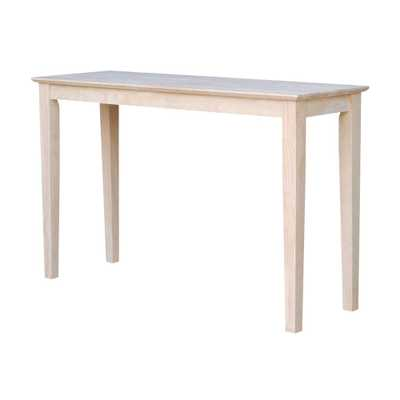 Shaker Console Table, Unfinished - Home Depot
