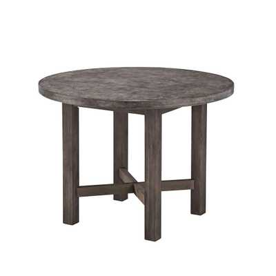 Home Styles Concrete Chic Round Patio Dining Table - Home Depot