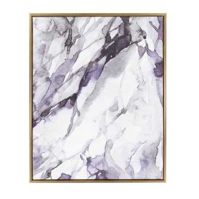 'Lilac Marble Abstract' Framed Graphic Art Print Wrapped on Canvas - Wayfair