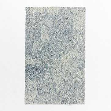 Vines Wool Rug, 5'x8', Blue lagoon - West Elm