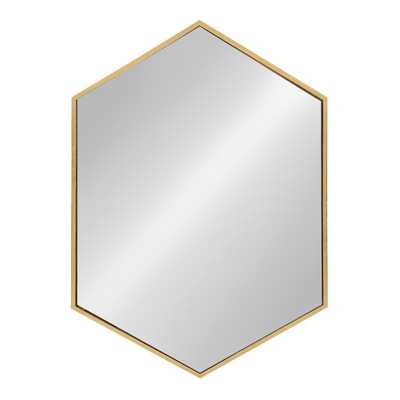 McNeer Hexagon Gold Accent Mirror - Home Depot