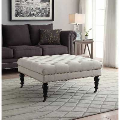 Isabelle Natural Accent Ottoman - Home Depot