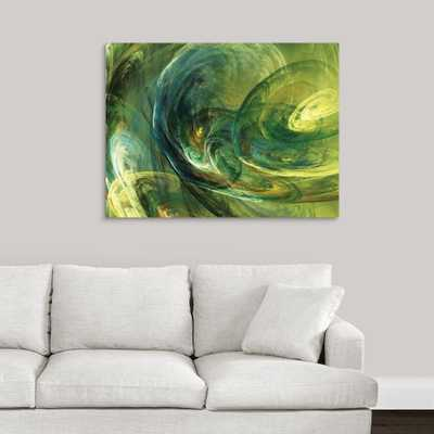 Fractal Light IV by Alan Hausenflock Canvas Wall Art, Multi-Colored - Home Depot