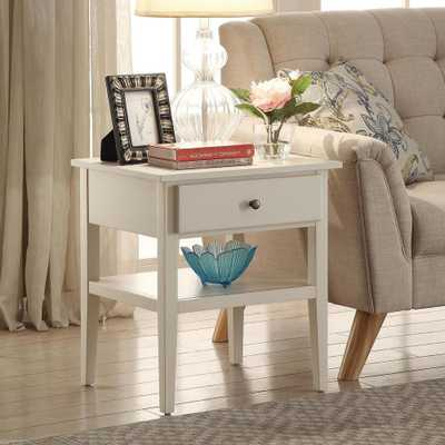 Arbor White Side Table - Home Depot