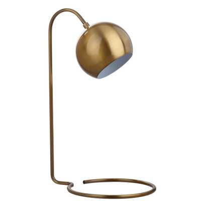 Safavieh Bartolo 22 in. Brass Gold Table Lamp - Home Depot