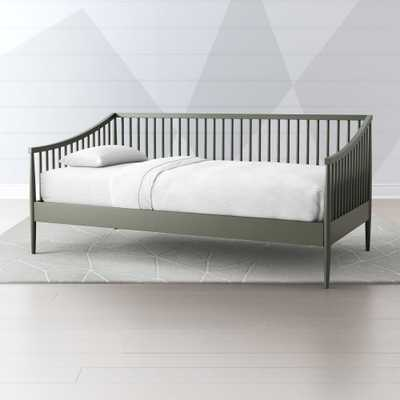 Hampshire Spindle Olive Green Daybed - Crate and Barrel