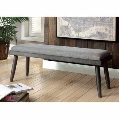 Charli Mid-Century Modern Bench - Wayfair