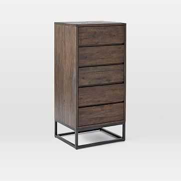Logan 5-Drawer Dresser, Smoked Brown - West Elm