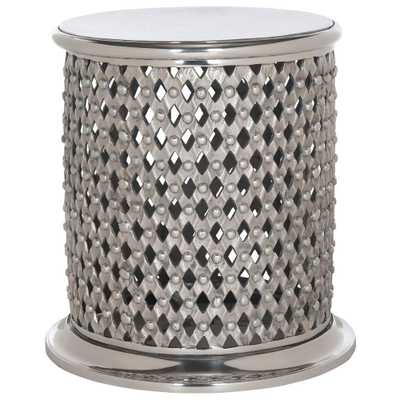 Silver End Table - Home Depot