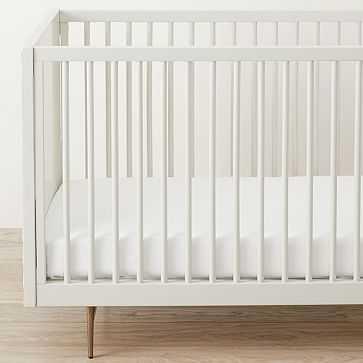 Design Crew Basics Organic Cotton Crib Sheet Set, White - West Elm
