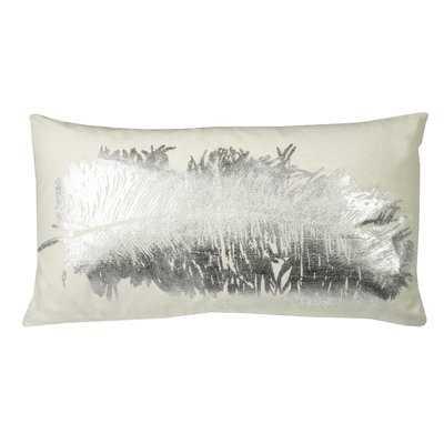 Mose Metallic Feather Lumbar Pillow - Wayfair