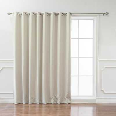 Best Home Fashion Wide Basic 100 in. W x 84 in. L Blackout Curtain in Ivory - Home Depot
