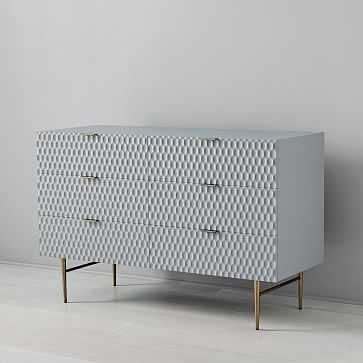 Audrey 6-Drawer Dresser, Mist Gray - West Elm