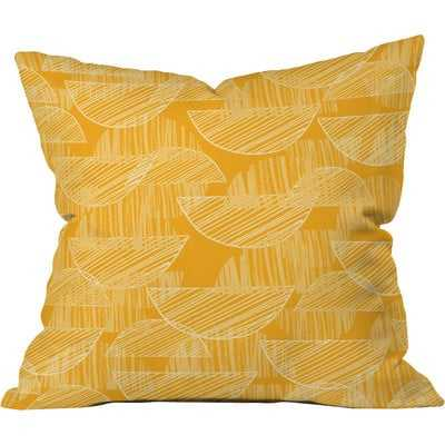 Mustard Arc Showers Polyester Throw Pillow - Wayfair