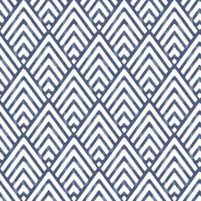 "Nu 18' x 20.5"" Arrowhead Deep Blue Wallpaper Roll - Birch Lane"