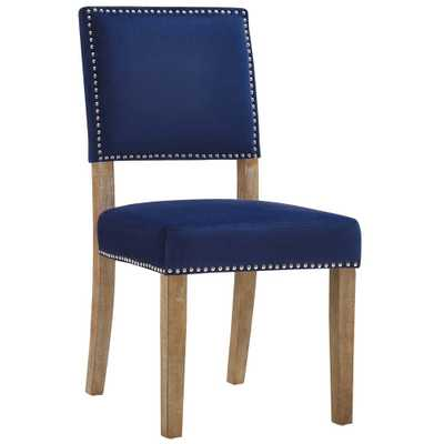 Oblige Navy (Blue) Wood Dining Chair - Home Depot