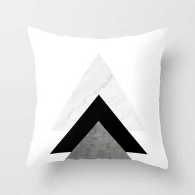 "Arrows Monochrome Collage Throw Pillow - Indoor Cover (16"" x 16"") with pillow insert by Byjwp - Society6"