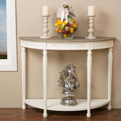 Baxton Studios Alys White and Natural Console Table - Home Depot