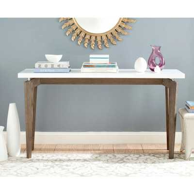 Josef White and Dark Brown Console Table, White & Dark Brown - Home Depot