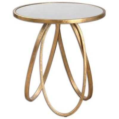 Uttermost Montrez Gold Accent Table - eBay