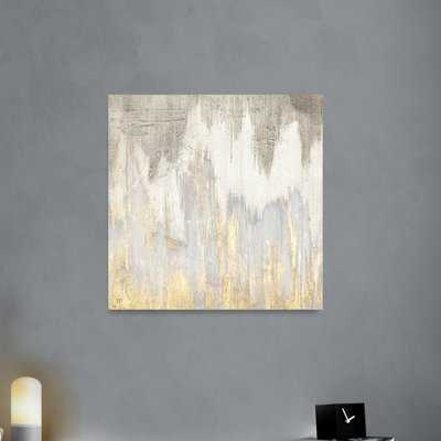 'Golden Caves' Painting Print on Wrapped Canvas - Wayfair