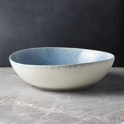 Caspian Blue Reactive Glaze Serving Bowl - Crate and Barrel