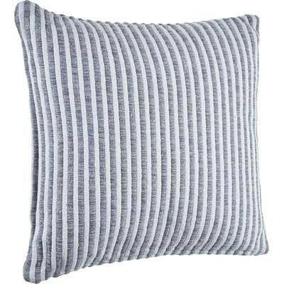 Gray And Cream Striped Throw Pillow - Wayfair