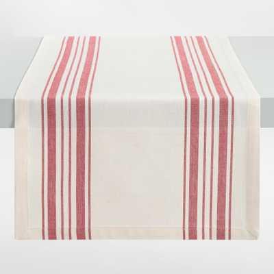 Red Villa Stripe Table Runner - Cotton by World Market - World Market/Cost Plus