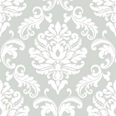 Grey Ariel Peel and Stick Wallpaper Sample - Home Depot