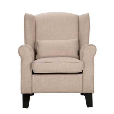 Pradera Oatmeal Linen Wing Back Arm Chair - Home Depot