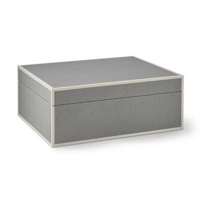 Faux Shagreen Box, Grey, Large - Williams Sonoma