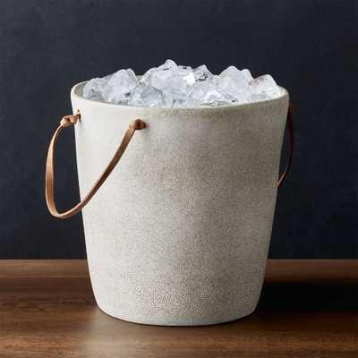 Pedra Ceramic Ice Bucket - Crate and Barrel