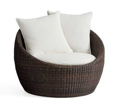 Torrey Papasan Chair , Espresso - Pottery Barn