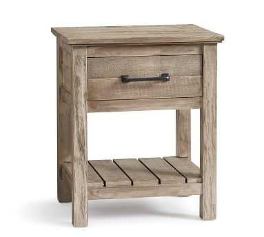 Paulsen Reclaimed Wood Nightstand, Cinder Gray - Pottery Barn