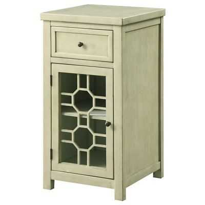 Furniture of America Jennifer Transitional Side Table in Antique White - eBay