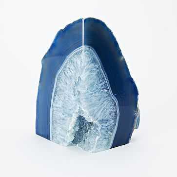 Agate Bookend, Blue - West Elm