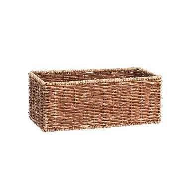 Samantha Shelf Basket, Honey finish - Pottery Barn