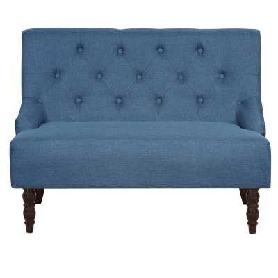 Robbie Tufted Linen Upholstered Loveseat: BLue - Blue - eBay