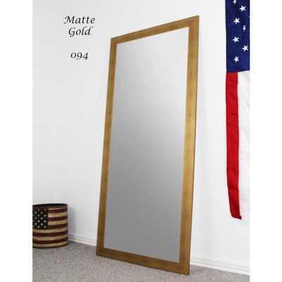 Rayne Mirrors 70.5 in. x 31.5 in. Matte Gold Full Body/Floor Length Vanity Mirror - Home Depot