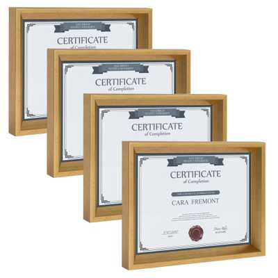 Calter 8.5x11 Gold Picture Frame (Set of 4) - Home Depot