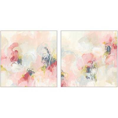 'Cherry Blossom' 2 Piece Framed Watercolor Painting Print Set on Canvas - Wayfair