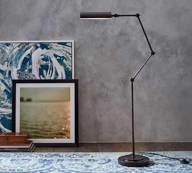 Wells Task Floor Lamp, Bronze - Pottery Barn